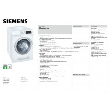Siemens WD 14H420 Washing Machine